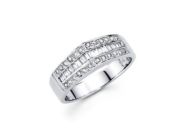 14k White Gold Baguette Pointed Diamond Ring .39 ct (G Color, SI1 Clarity)