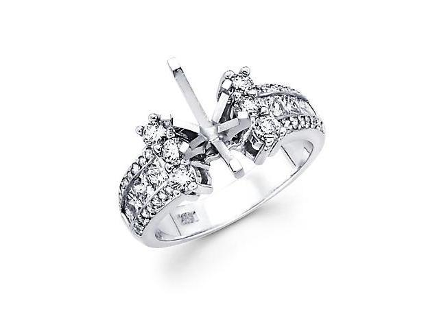 1.27ct Diamond 14k White Gold Engagement Semi Mount Ring Setting (G-H Color, SI2 Clarity)
