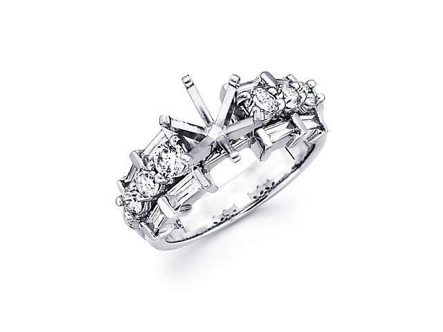 1.18ct Diamond 14k White Gold Engagement Semi Mount Ring Setting (G-H Color, SI2 Clarity)