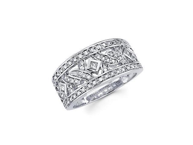 14k White Gold Diamond Anniversary Ring Band 1/2 ct (G-H Color, SI2 Clarity)