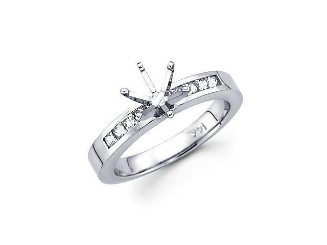 0.70ct Diamond 14k White Gold Engagement Wedding Ring Set (G-H Color, SI1 Clarity)