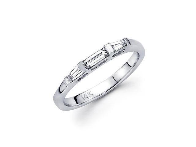 14k White Gold Diamond Wedding Matching Ring Band .47ct (G-H Color, SI2 Clarity)