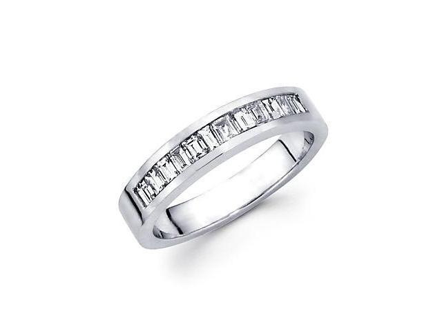 0.55ct Diamond 14k White Gold Wedding Ring Band Matching U (G-H Color, SI1 Clarity)