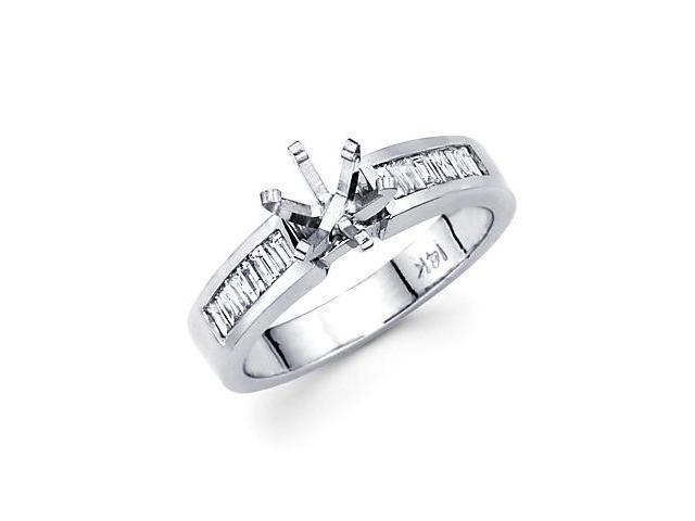0.55ct Diamond 14k White Gold Engagement Ring Semi Mounting U (G-H Color, SI1 Clarity)