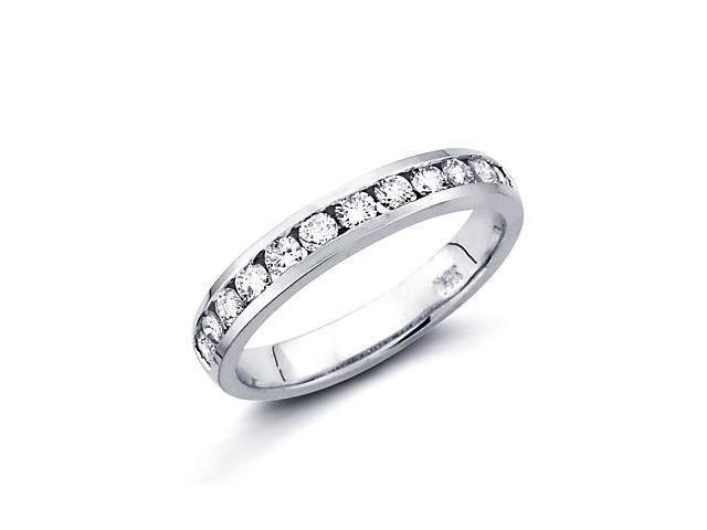 0.51ct Diamond 14k White Gold Wedding Ring Band Matching X (G-H Color, SI2 Clarity)