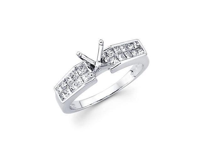 0.40ct Diamond 18k White Gold Engagement Semi Mount Ring Setting (G-H Color, SI2 Clarity)