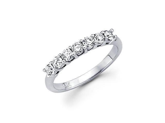 14k White Gold Diamond Wedding Matching Ring Band .61ct (G-H Color, SI2 Clarity)
