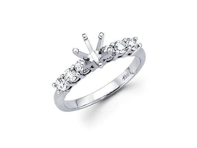 1/2 ct Diamond 14k White Gold Engagement Semi Mount Ring (G-H Color, SI2 Clarity)