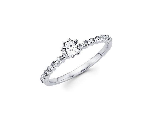 0.47ct Diamond 18k White Gold Engagement Wedding Ring Band Set - Center Stone Not Included