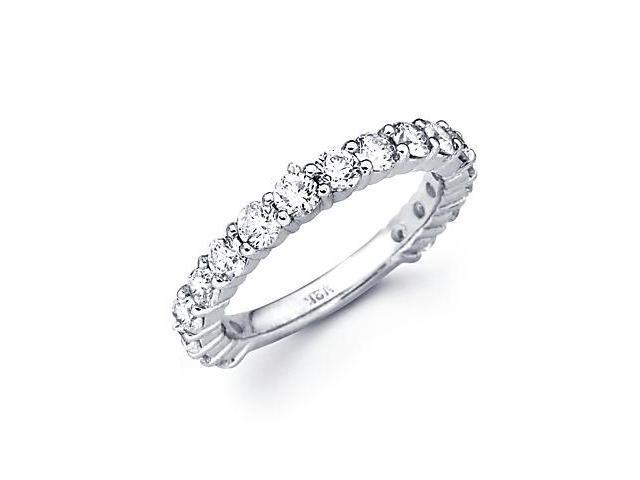 1.75ct Diamond 18k White Gold Wedding Ring Band Matching L (G-H Color, SI2 Clarity)