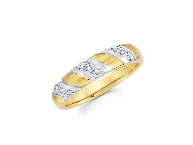 14k Yellow Gold Mens Matching Diamond Wedding Ring Band .10 ct (G-H Color, SI2 Clarity)