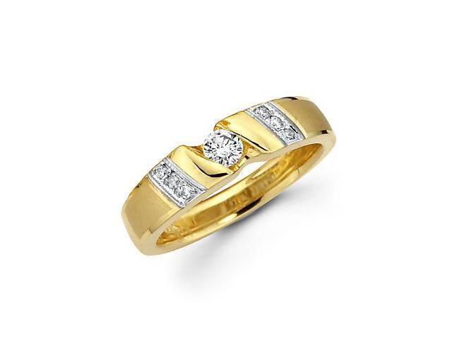 1/4ct Diamond 14k Yellow and White Gold Wedding Ring Band (G-H Color, SI2 Clarity)