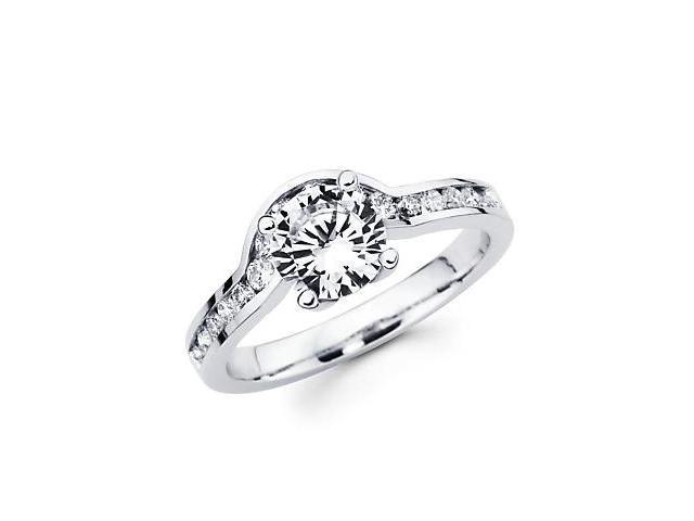0.37ct Diamond (G-H, SI2) 18k White Gold Engagement Ring Semi Mounting O - Center Stone Not Included