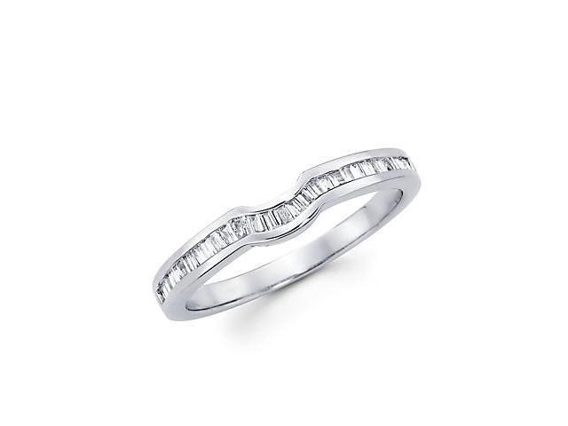 1/4ct Diamond 18k White Gold Wedding Ring Band Matching P (G-H Color, SI1 Clarity)
