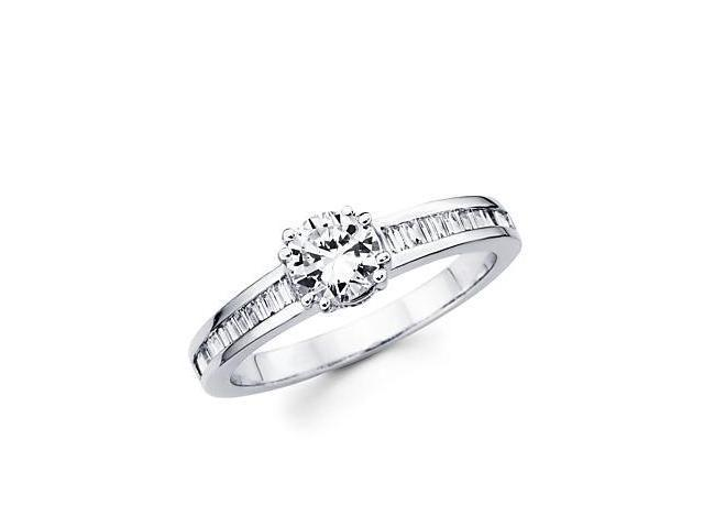 .29ct Diamond 18k White Gold Engagement Ring Semi Mounting P- 0.65ct Center Stone Not Included
