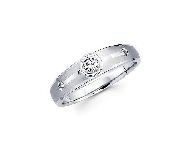 .13ct Diamond 14k White Gold Ladies Womens Matching Wedding Ring (G-H Color, SI2 Clarity)