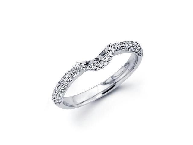 0.35ct Diamond 18k White Gold Wedding Ring Band Matching D (G-H Color, SI2 Clarity)