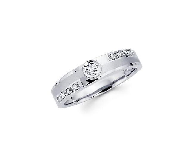 .16ct Diamond 14k White Gold Ladies Womens Matching Wedding Ring (G-H Color, SI2 Clarity)