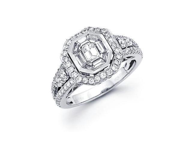 1.36ct Diamond 18k White Gold Engagement Ring 1.36 ct (G-H Color, SI2 Clarity)