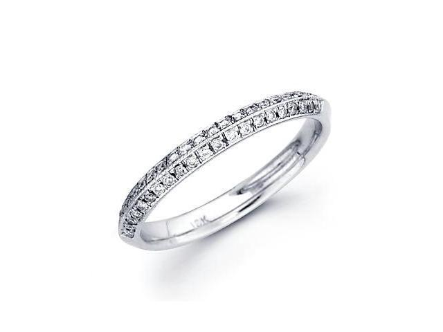 0.23ct Diamond 18k White Gold Wedding Ring Band Matching E (G-H Color, SI2 Clarity)