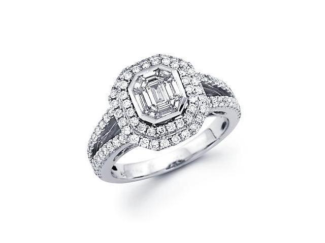 1.3ct Diamond 18k White Gold Engagement Ring 1.30 ct (G-H Color, SI2 Clarity)