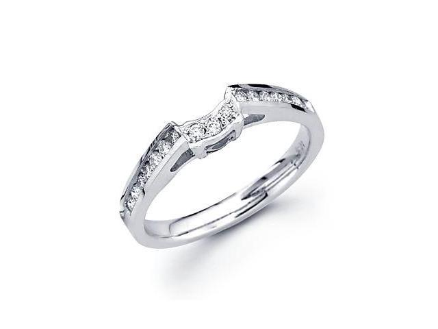0.27ct Diamond 18k White Gold Wedding Ring Band Matching G (G-H Color, SI2 Clarity)