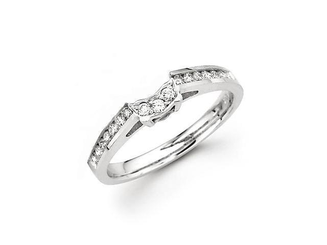 0.27ct Diamond 18k White Gold Wedding Ring Band Matching H (G-H Color, SI2 Clarity)