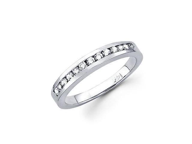 14k White Gold Diamond Wedding Matching Ring Band .48ct (G-H Color, SI2 Clarity)