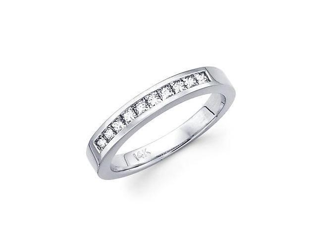 14k White Gold Diamond Wedding Matching Ring Band .40ct (G-H Color, SI1 Clarity)