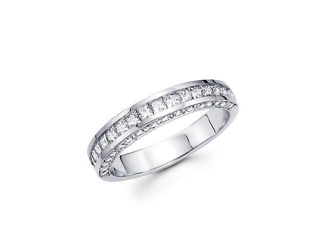 14k White Gold Princess Cut Diamond Wedding Ring Band 1.0ct (G-H Color, SI2 Clarity)