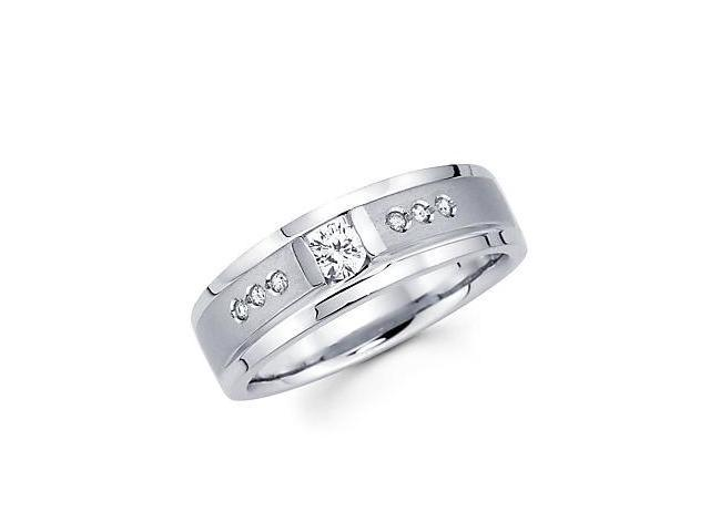 1/4ct Diamond 14k White Gold Ladies Womens Solitaire Wedding Ring Band (G-H Color, SI2 Clarity)