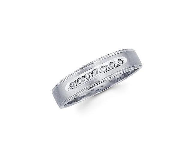 .06ct Diamond 14k White Gold Ladies Womens Wedding New Ring Band (G-H Color, SI2 Clarity)