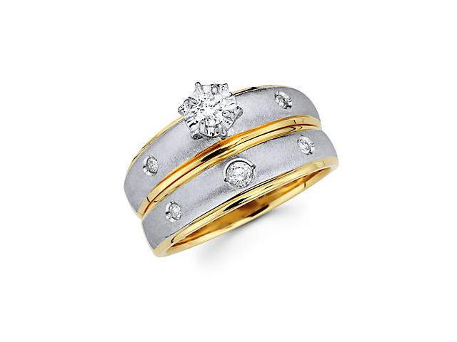 .23ct Diamond 14k Yellow and White Gold Wedding 2 Ring Set (G-H Color, SI2 Clarity)