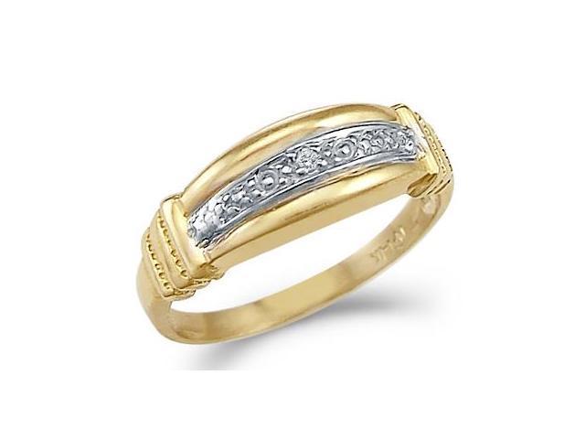 14k Yellow and White Gold Ladies Fashion Band Ring