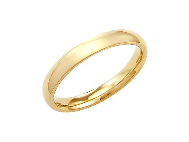 14k Solid Yellow Gold Plain Comfort Wedding Ring Band 3MM - Size 7 - 3.3 Grams