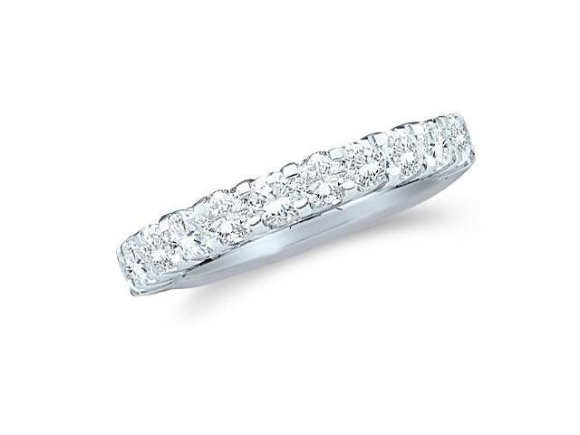 14k White Gold Round Cut Diamond Ladies Womens Channel Set Wedding or Anniversary 3mm Ring Band (1.03 cttw, G - H Color, SI2 Clarity)