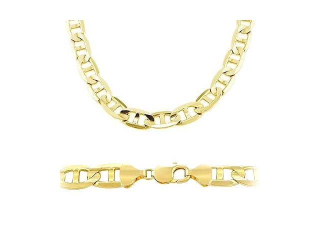14k Solid Gold Gucci Mariner Chain Necklace 7.7mm 22