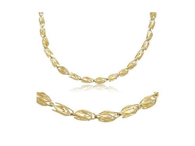 14k Yellow Gold Solid Marquise Chain Necklace 4mm 22