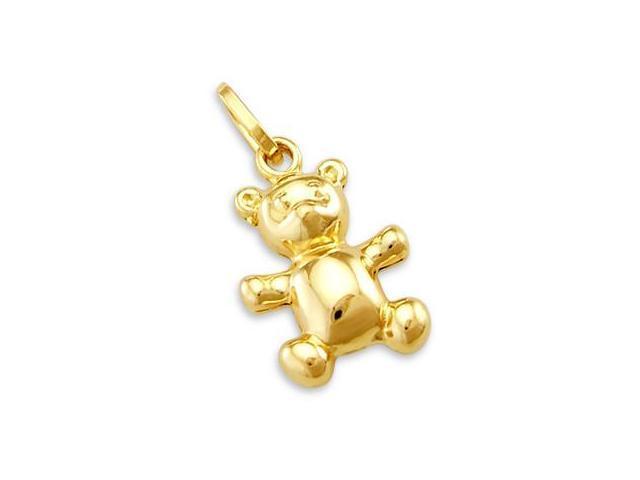14k Yellow Gold Teddy Bear Charm Pendant CUTE (Height = 1
