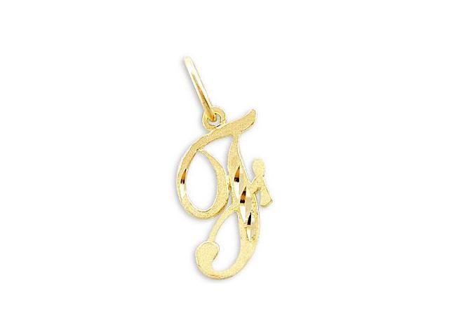14k Yellow Gold Initial Letter