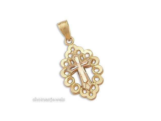 Solid 14k Yellow Gold Heart Charm Pendant Large New (Height = 3/4