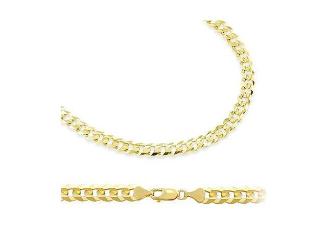 Solid 14k Yellow Gold Cuban Curb Chain Necklace 4.6mm 22