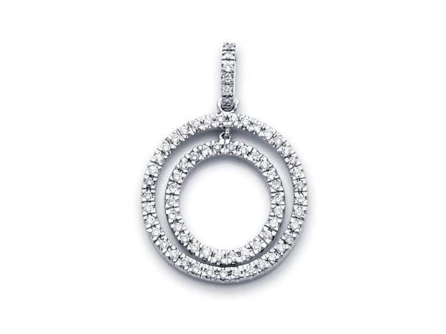 14k White Gold Round Diamond Eternity Pendant .47 ct (G-H Color, SI2 Clarity)