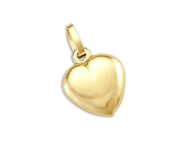 14k Yellow Gold Heart Classic Love Pendant Charm New (Height = 3/4