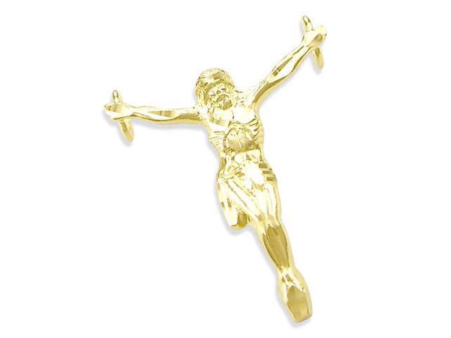 14K YELLOW GOLD NEW JESUS BODY CRUCIFIX CHARM PENDANT!! (Height = 1.25