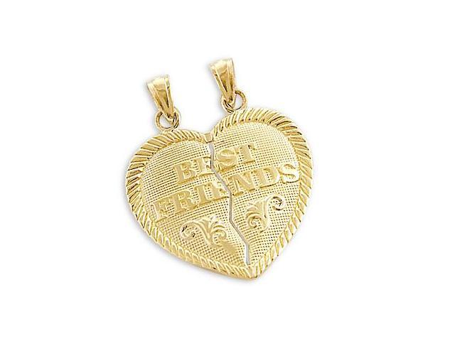 14k Yellow Gold Best Friends Breakable Charm Pendant (Height = 1