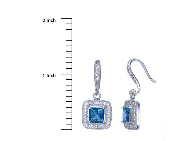 Sterling Silver Mystic Topaz Earrings (2 CT)