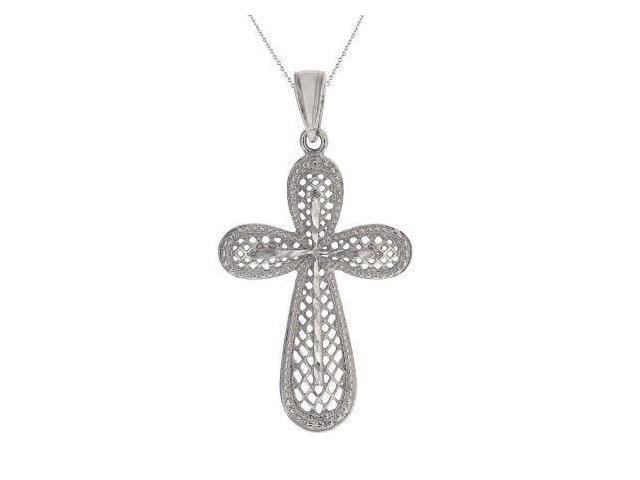 Sterling Silver Cross Pendant With 18 Inch Chain (1 Inch)