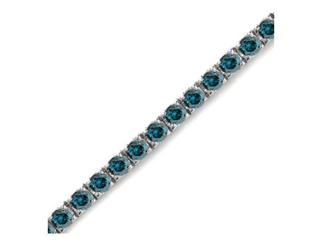14K White Gold Blue Diamond Bracelet (5 CT)