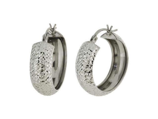 Sterling Silver Hoop Earrings (3/4 Inch)